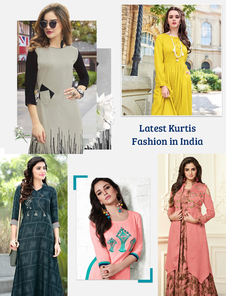 Kurtis fashion in India