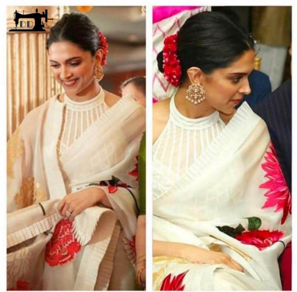 Buy Online Deepika Padukone Bollywood Designer Saree In ...