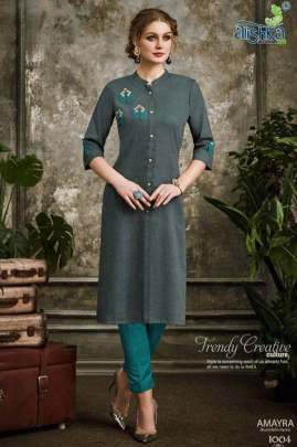 Alishka Amayra Kurti with Pant Wholesale Catalog 6 Pcs