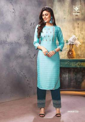 Anokhi  Embroidery Work Kurtis With Pants Catalogue