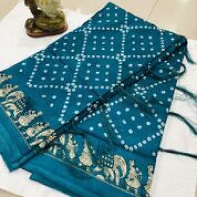 Art Silk Famouns Collection Bandhini
