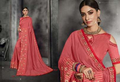 BEAUTIFUL CRAP SILK SATIN SAREE