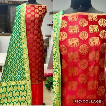 Banarasi Jacqurd Naylon With  Zari  Work  Butti
