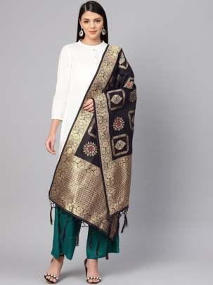 Banarasi Silk Dupatta With Zari Work