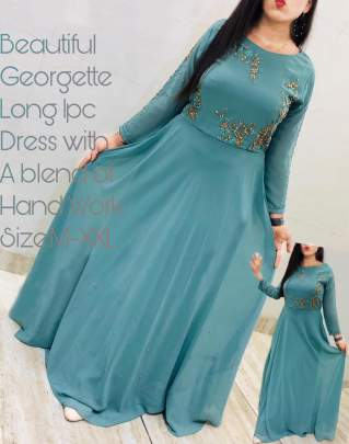 Beautiful georgette Rama Colour Gown
