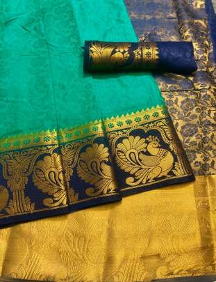 Chit Pallu Green Color