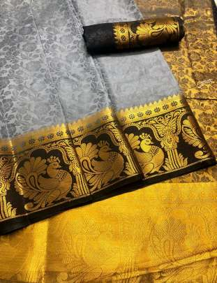 Chit Pallu Grey Color