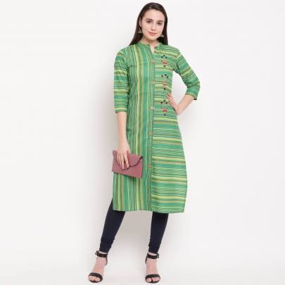 Designer Cotton Kurti Multi