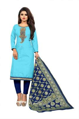 EXCLUSIVE COTTON DRESS MATERIAL SUIT