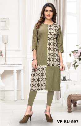 Fancy Cotton Kurti Platinum Grey