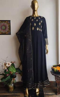 GEORGETTE WITH EMBROIDERY WORK WITH LLES BODAR SUIT