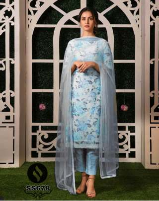 Heavy Crape Silk Pakistani Suit