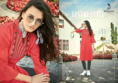 Diva nx Vol-2 Heavy Soft Cotton Slub with Embroidery work Kurti Full Catalog Set