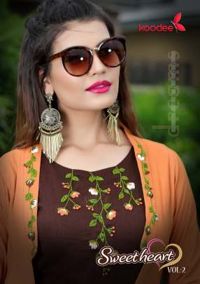 Koodee Sweet-Heart Vol-2 Kurti with Srug and plazzo