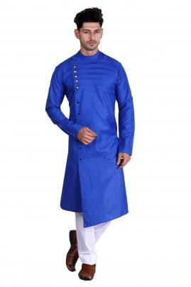 Men's Traditional wear Pathani Blue Color