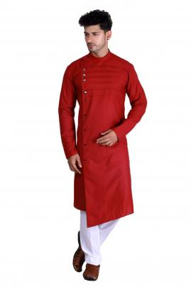 Men's Traditional wear Pathani Red Color