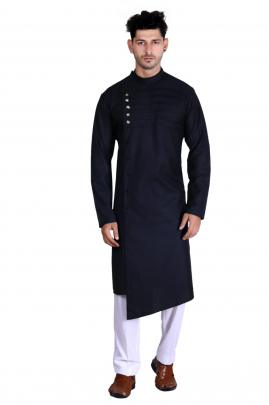 Men's Traditional wear Pathani Black Color