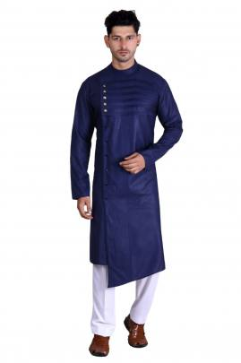 Men's Traditional wear Pathani Nevy Blue Color