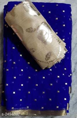 NAZNEEN FOIL WORK SAREE