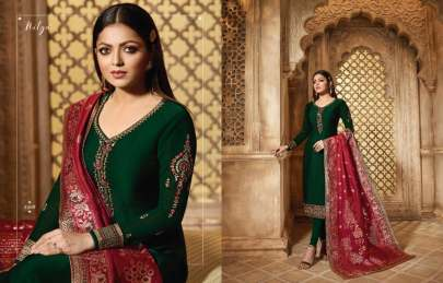 Nityaa Banaras Dark Green