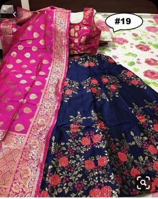 Rasleela Vol-10 Lehenga Blue  and Duptta Pink