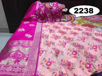 Rasleela Vol-10 Lehenga pink and Duptta pink