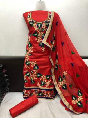 Renu Designer Embroidery And Diamond DRESS