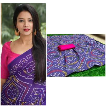pure soft georgette saree purple with beautiful heavy print saree