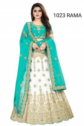 white lehenga and  Dijaynar Dupatta