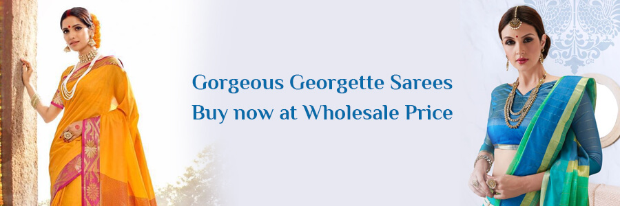 Buy Wholesale Georgette Sarees Surat