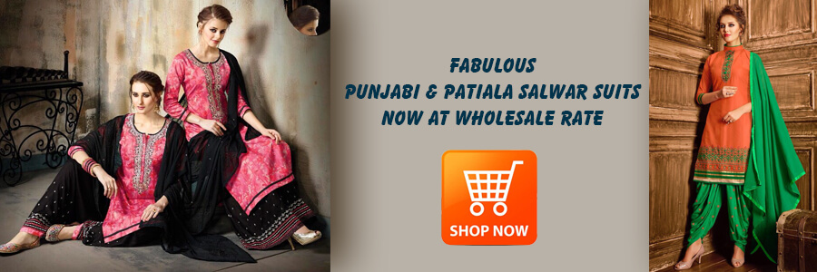 Buy Wholesale Punjabi And Patiala Salwar Suits Surat
